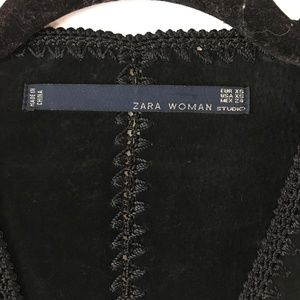 Zara Dresses - Zara Studio Crochet Suede Dress XS